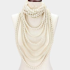Jewelry - 2 Piece- Multi-Layer Pearl Necklace & Choker